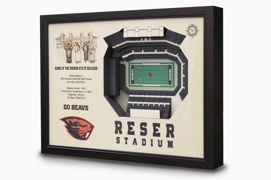 Oregon State Beavers -  Stadium - 3D Art