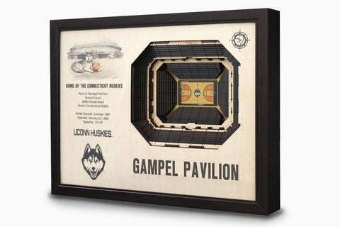 UCONN Huskies -  Stadium - 3D Art