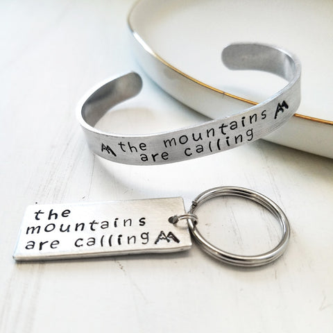 Mountains are Calling Bracelet or Keychain