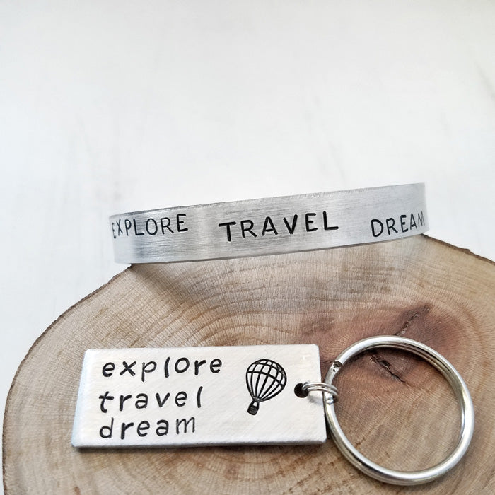 Explore Travel Dream Bracelet or Keychain