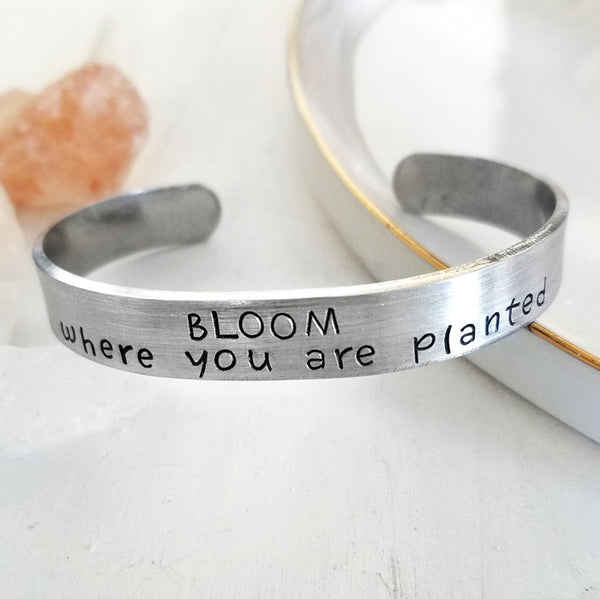Bloom Where You Are Planted  Bracelet