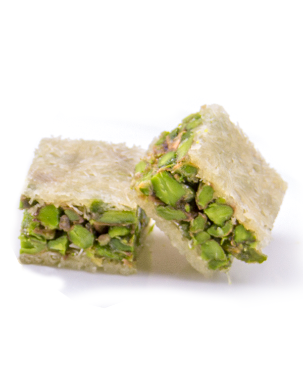 Pistachio Squares with Rose Water (BALORIEH)