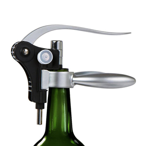 Rabbit Corkscrew Wine Gift Set, 9 pc w/ Premium Wood Case