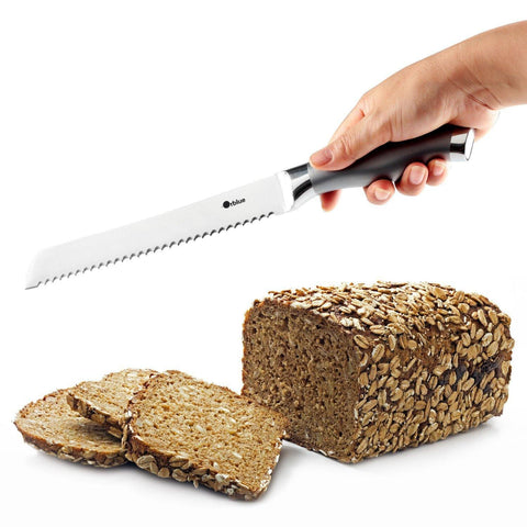 Serrated Bread Knife, Ultra-Sharp Stainless Steel Blade