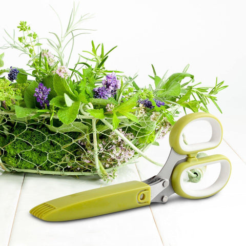 Herb Scissors with Five 3-Inch Blades (2-pack)