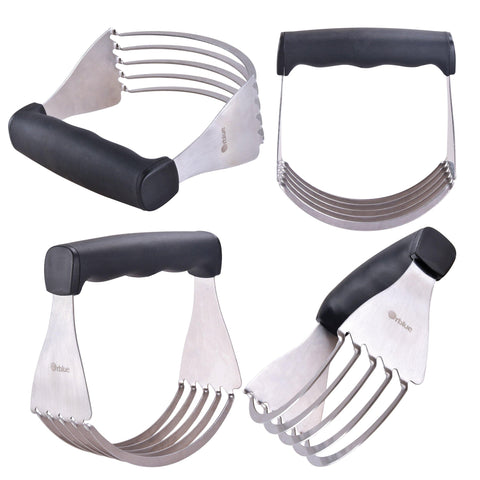 Pastry Cutter, Dough Blender w/ 5 Stainless Steel Blades