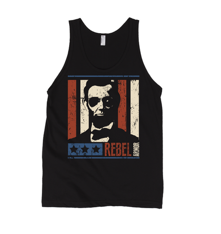Rebel President Lincoln Men's Patriotic Tank