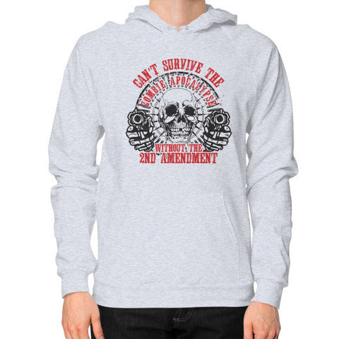 Can't Survive Zombie Apocalypse 2nd Amendment Hoodie