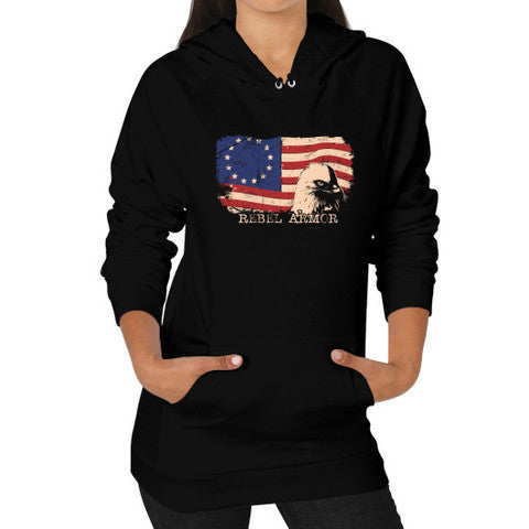 Betsy Ross Flag Eagle American Flag Hoodie