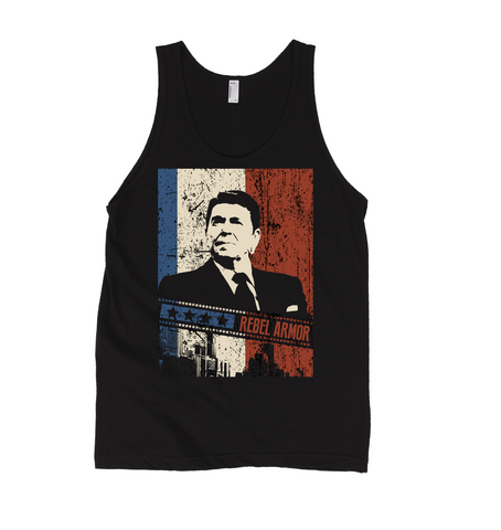 Rebel President Ronald Reagan Men's Tank