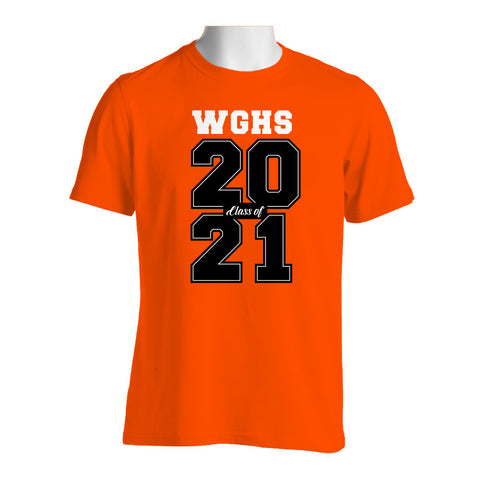 WGHS Class of 2021 Orange Crew Neck T-Shirt