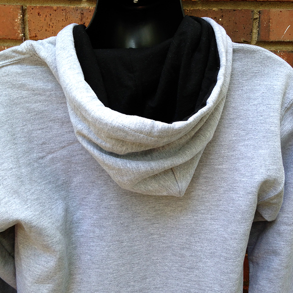 Grey Webster Statesmen Contrast Hooded Sweatshirt
