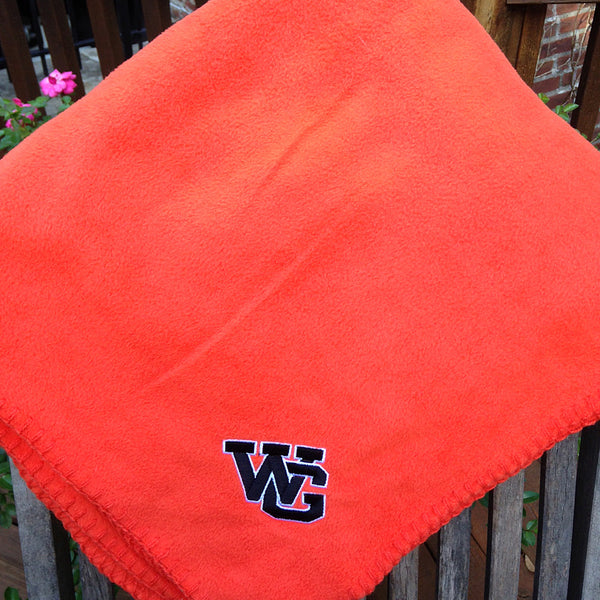 WG Orange Fleece Stadium Blanket