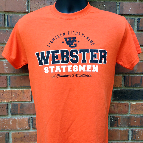 Classic Webster Statesmen Orange Crew Neck T-Shirt