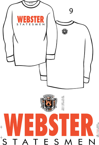 Comfort Colors long sleeve tee - WHITE - Webster Statesmen -  LIMITED QUANTITY