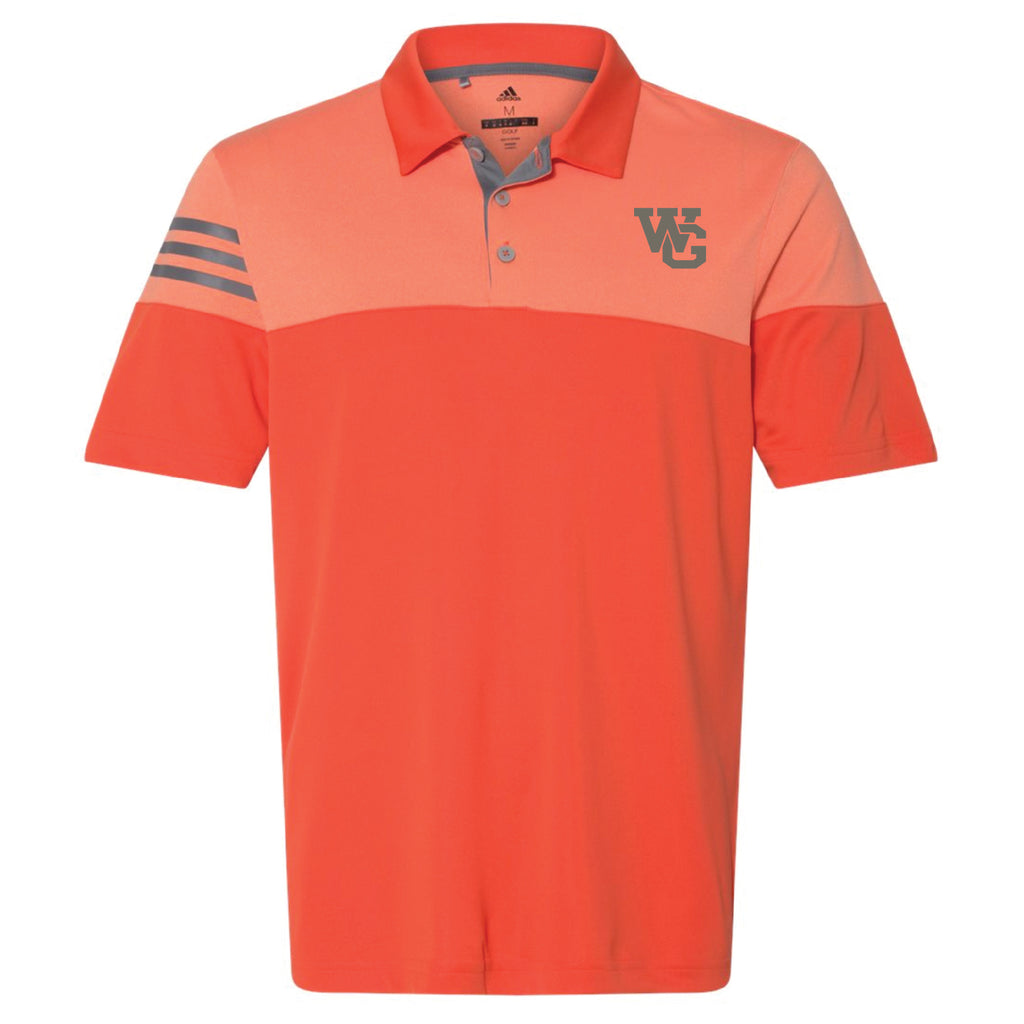 Short Sleeve - Orange Adidas Golf Shirt