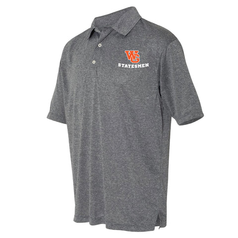 Short Sleeve - Gray WG Embroidered Golf Shirt