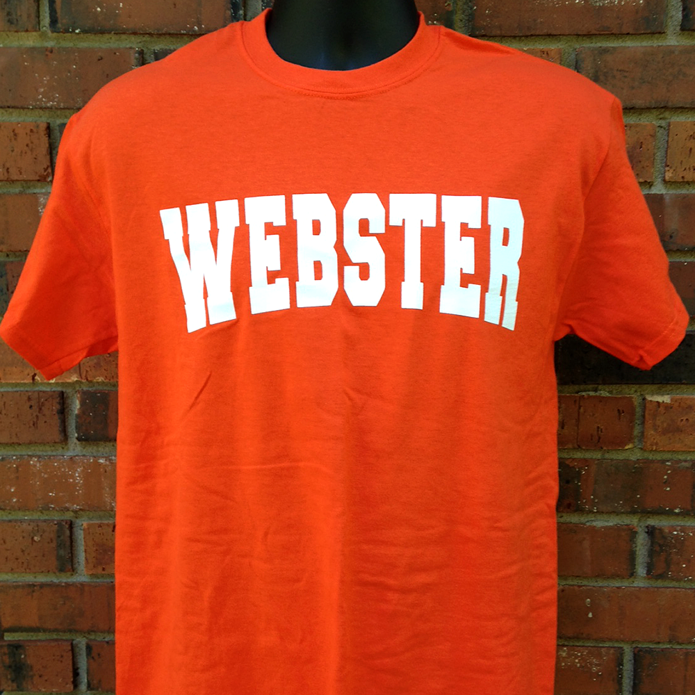 Webster Orange Crew Neck T-Shirt