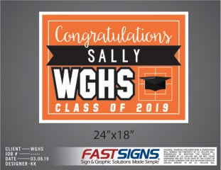 Class of 2019 Graduation Signs