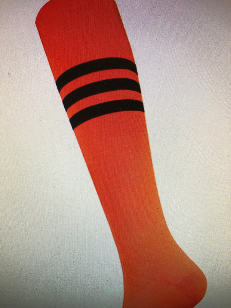 Acc - Orange Socks with Black Stripe