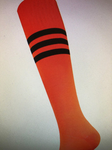Acc - Orange Sock with  Black Stripe