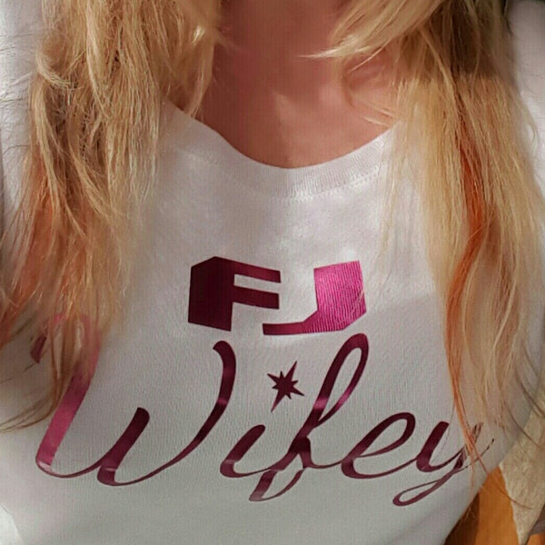 FJ Wifey Sweatshirt - White-Small - Sweet or Spicy Apparel - 3