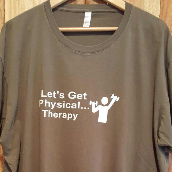 Let's Get Physical Tee - Army Green-Xlarge - Sweet or Spicy Apparel - 1