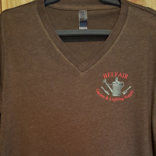 Belfair Garden & Lighting Supply Tee - Brown - Large - Sweet or Spicy Apparel