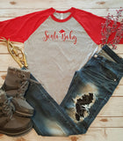 Santa Baby Baseball Tee -  - Sweet or Spicy Apparel - 4