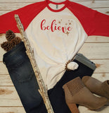 Believe Baseball Tee -  - Sweet or Spicy Apparel - 4