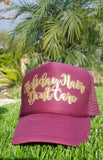 Holiday Hair Don't Care Trucker Hat -  - Sweet or Spicy Apparel - 6