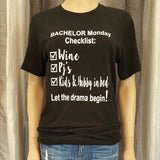 BACHELOR Monday Checklist Tee - Vintage Black - Small - Sweet or Spicy Apparel - 1