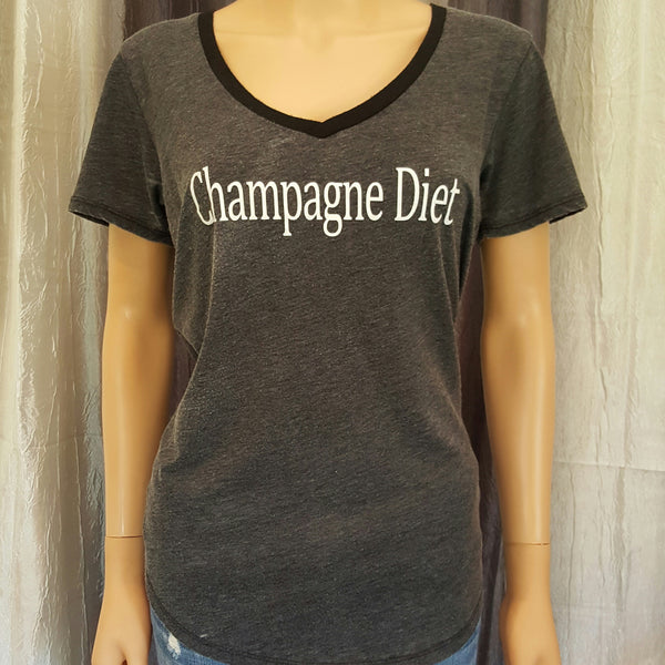 Champagne Diet Tee -  - Sweet or Spicy Apparel - 1