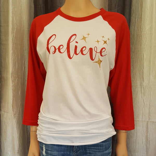 Believe Baseball Tee -  - Sweet or Spicy Apparel - 1
