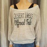 Desert Vibes Offroad Tribe Off-Shoulder Tee - White Marble - Small - Sweet or Spicy Apparel - 1