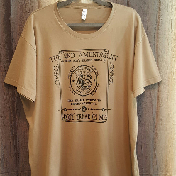 The 2nd Amendment Tee - Mocha - Xlarge - Sweet or Spicy Apparel