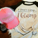 I Don't Camp...I Glamp Baseball Tee -  - Sweet or Spicy Apparel - 4