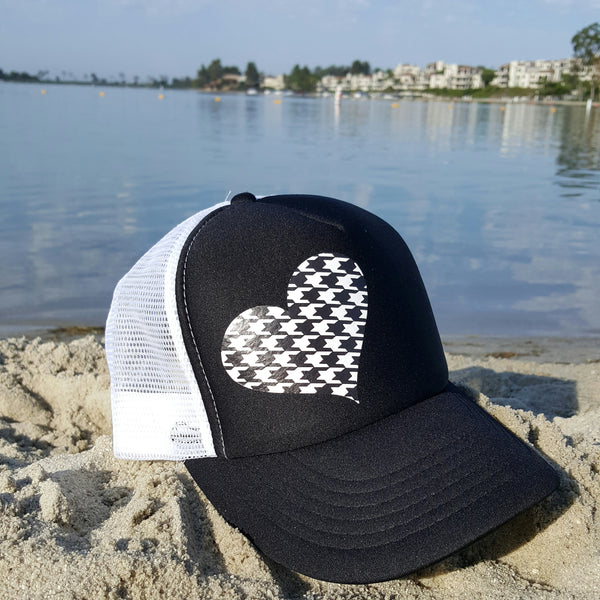 Houndstooth Heart Trucker Hat