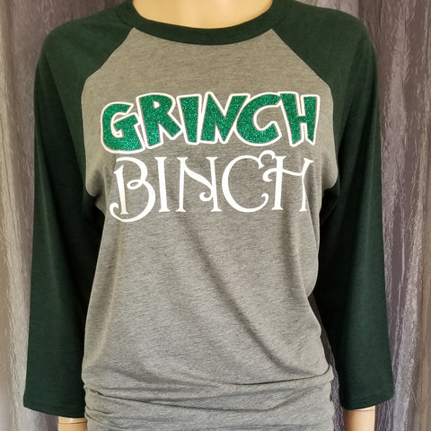 GRINCH BINCH Baseball Tee