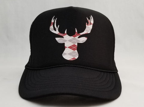 Argyle Deer Head Trucker Hat