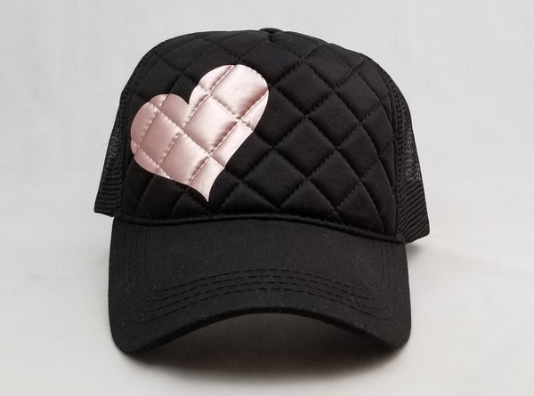 Quilted Heart Trucker Hat