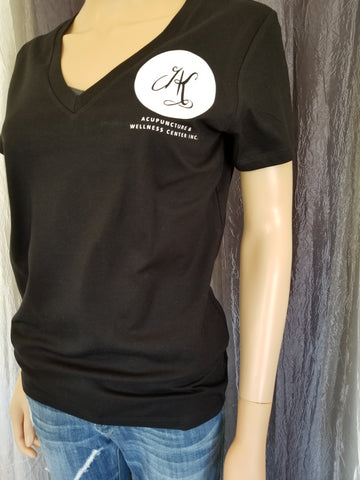 AK Acupuncture Deep V-Neck Tee