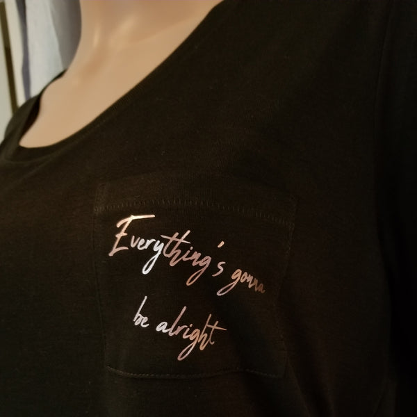 Everything's gonna be alright Pocket Tee