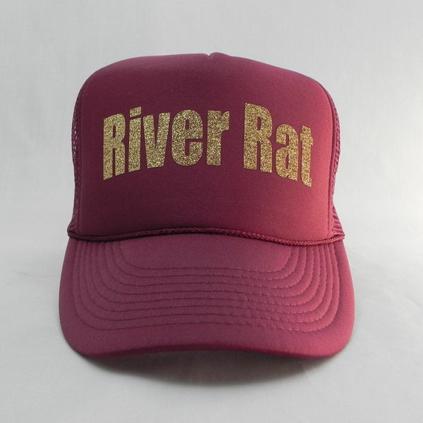 River Rat Trucker Hat - Burgundy Hat with Burgundy Face - Sweet or Spicy Apparel - 3