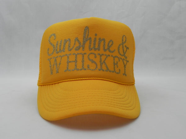 Sunshine & Whiskey Trucker Hat -  - Sweet or Spicy Apparel - 1