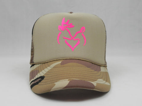 Boy & Girl Deer Trucker Hat -  - Sweet or Spicy Apparel - 1
