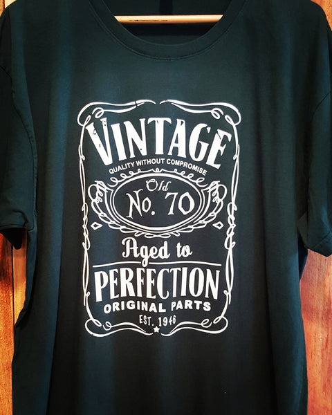 Vintage Old No. 70 Tee - Forest Green-Xlarge - Sweet or Spicy Apparel - 2