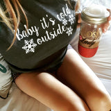 Baby It's Cold Outside Baseball Tee -  - Sweet or Spicy Apparel - 4
