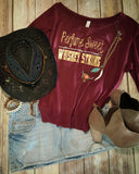 Perfume Sweet WHISKEY STRONG Off-Shoulder Tee -  - Sweet or Spicy Apparel - 4