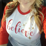 Believe Baseball Tee -  - Sweet or Spicy Apparel - 3